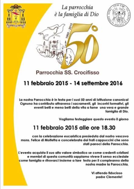 50°AnniversarioParrocchiaS.Crocifisso_Cerignola