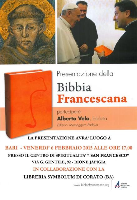 PRESENTAZIONE BIBBIA FRANCESCANA_BARI_2015
