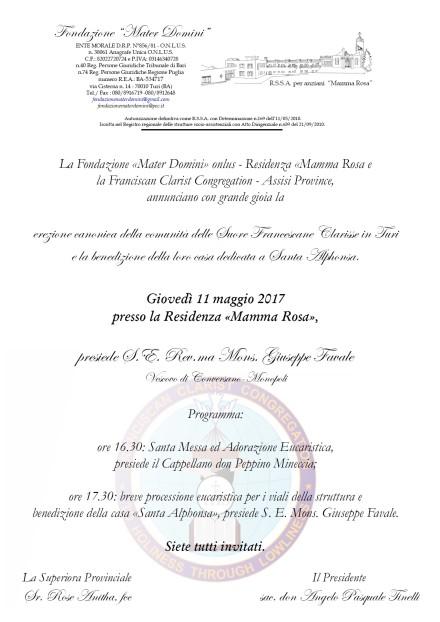 Invito inaugurazione Clarisse Turi 2017