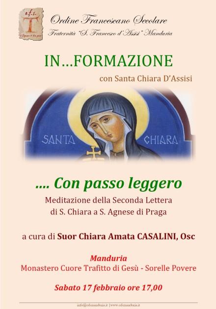 Locandina incontro S. Chiara
