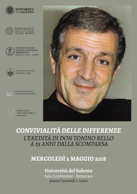 LocandinaConvegnoDonToninoBello_Lecce_2018