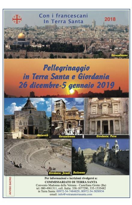 Locandina Pellegrinaggio Terra Santa 2018